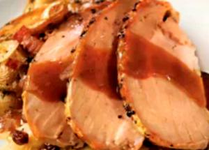 Roasted Pork with Sauerkraut and Apples