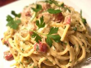 Pasta with Light Carbonara