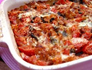 Microwave Cooked Scalloped Tomatoes