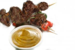 Danish Kebabs With Mustard Sauce