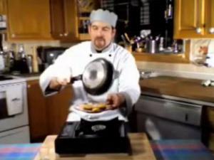 Cooking Show Banana Flambe, Tomatza Style