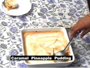 Christmas Caramel Pineapple Pudding
