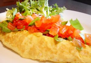 Tomato and Basil Omelette