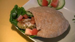 Pita Bread with Falafel and Tahini