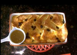 Baked Soft Butter and White Bread Pudding