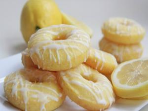 Baked Lemon Cake Donuts Lemon Glaze