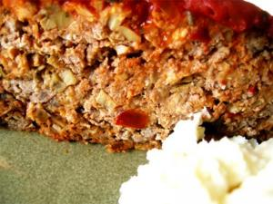 Meat Loaf Baked in Sauce