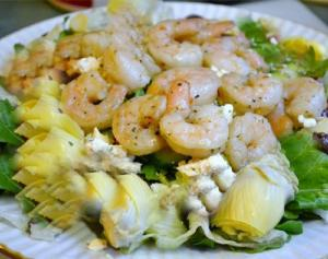 Marinated Artichokes And Shrimp In Citrus Vinaigrette
