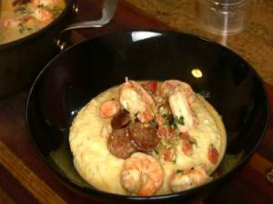 Holiday Series: # 1 Shrimp & Andouille Sausage with Grits (Polenta) for Brunch