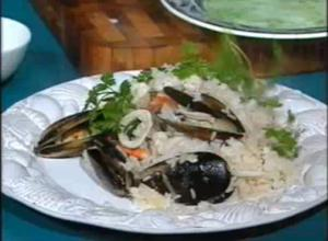 Appetizing Seafood Risotto