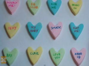 Candy Conversation Hearts - Valentine's Day
