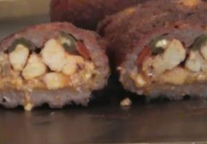 Smoked Pepper and Cheese Stuffed Meat Fattys