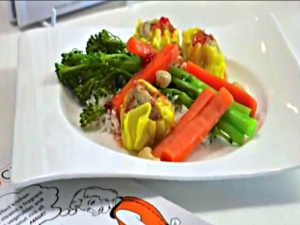 Steamed Vegetable Rice
