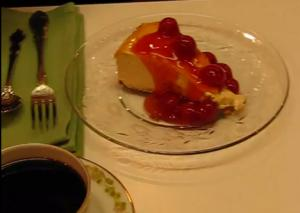 Labor Day Special Cheesecake with Cherry Pie Topping