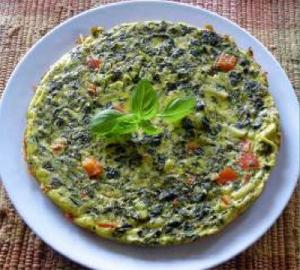 Frittata with Parmesan and Fresh Basil