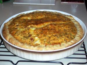 Ginger Sweet Potato Quiche