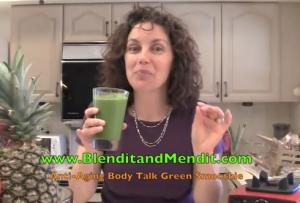 Tangy Anti Aging Greens and Fruit Smoothie