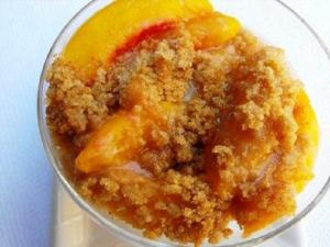 Peach Crumb Pudding