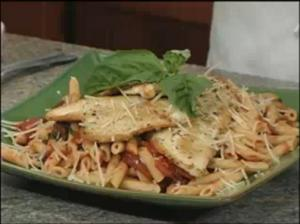 Chicken Puttanesca and Pasta