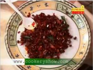 Beetroot Thoran for Onam and Onasadya
