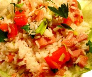 Rice Curry Salad With Ham