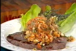 Flattened Steak with Seafood Sauce - Cooking Made Simple by Belucci