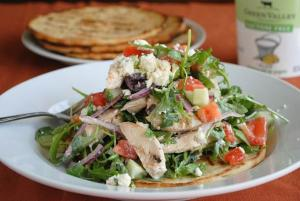 Grilled Chicken Souvlaki Salad