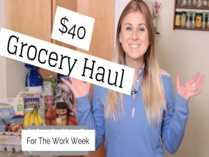 Healthy $40 Grocery Haul for Work Week - Meal Plan Included