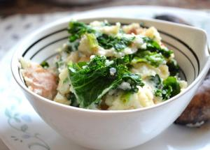 Bacon and Colcannon with Cider Sauce