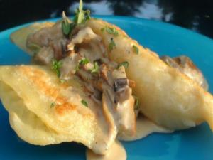 How To: Home Made Pierogies with Wild Mushroom Cream Sauce