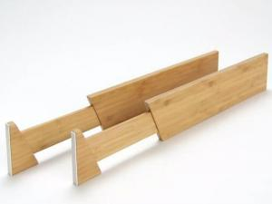 Bamboo Adjustable Drawer Dividers