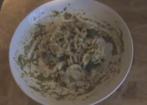 Mushroom & Bacon Pesto Pasta