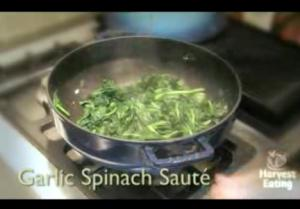 Tasty Garlic Spinach Sautee