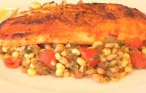 Quick Pan-Seared Tilapia with Indian Corn