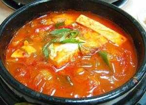 Korean Simmered Chicken and Kimchi - Kimchi Jjigae