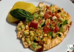 Healthy Zucchini And Tomato Frittata