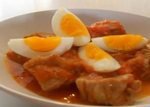 Egg and Tomatoes in Pork