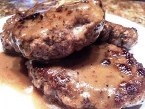 Steak with Mushroom Gravy