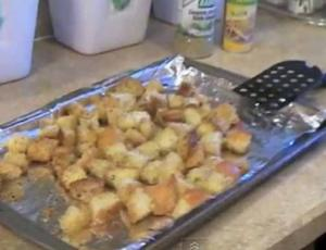 Oven Baked Croutons