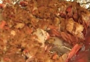 Whole Stuffed Lobsters