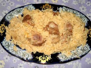 Chops with Pilaf