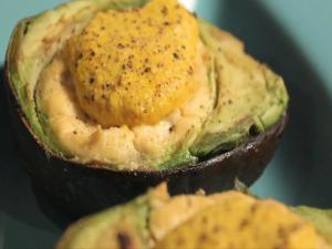 "Baked Tofu ""Egg""vocado"