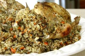 Barbecued Cornish Hens Wild Rice Stuffing