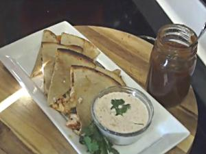 Smoked Chicken Quesadilla on the Grill Dome - A Diner's, Drive-in's, and Dives Inspired Dish