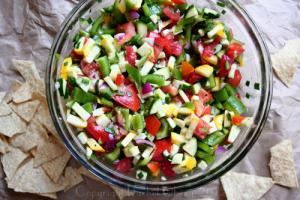 Happy 30th Episode! Fresh Veggie Salsa