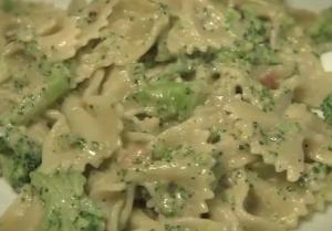 Creamy Cheesy Farfalle with Broccoli and Anchovy
