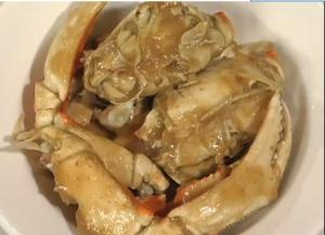 Steamed Cracked Crab in Spicy Tamarind Sauce