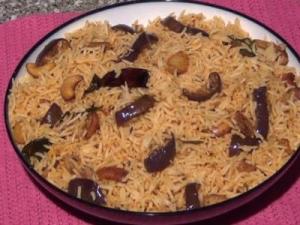 Vangi Bath - Brinjal / Eggplant Rice