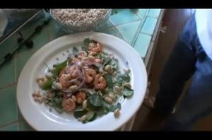 Italian Watercress, Shrimp and Farro Salad