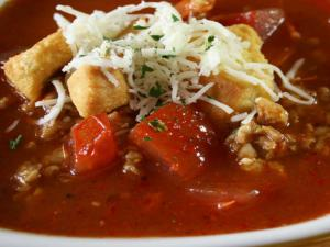 Hearty Pizza Soup